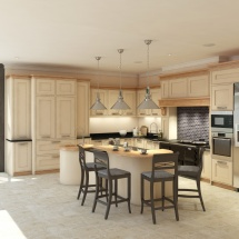 Kitchen with bi-fold doors onto the terrace